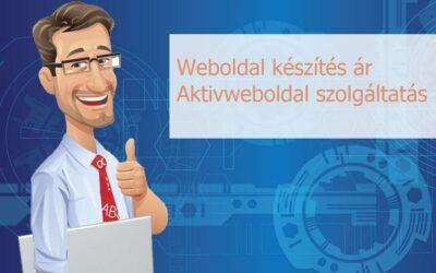 Weboldal készítés ár